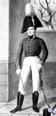 Офицер Изюмского гусарского полка в виц-мундире, 1802-1803 годы.
