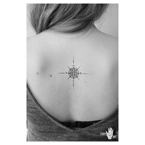 21 Fabulous Compass Tattoo Designs