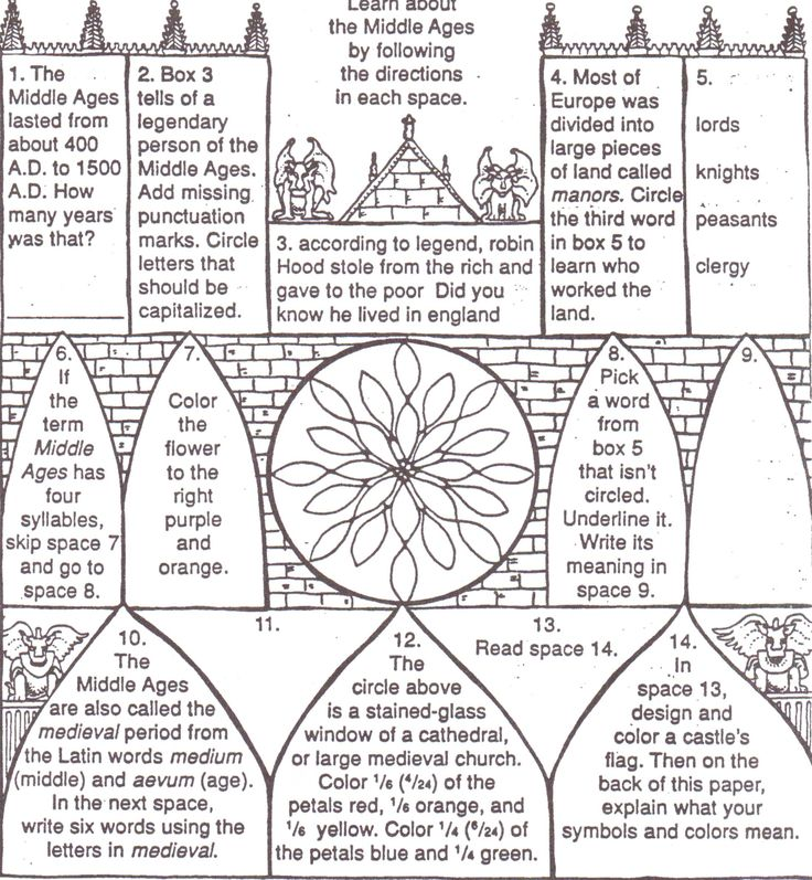middle+ages+for+kids+worksheets | The Middle Ages