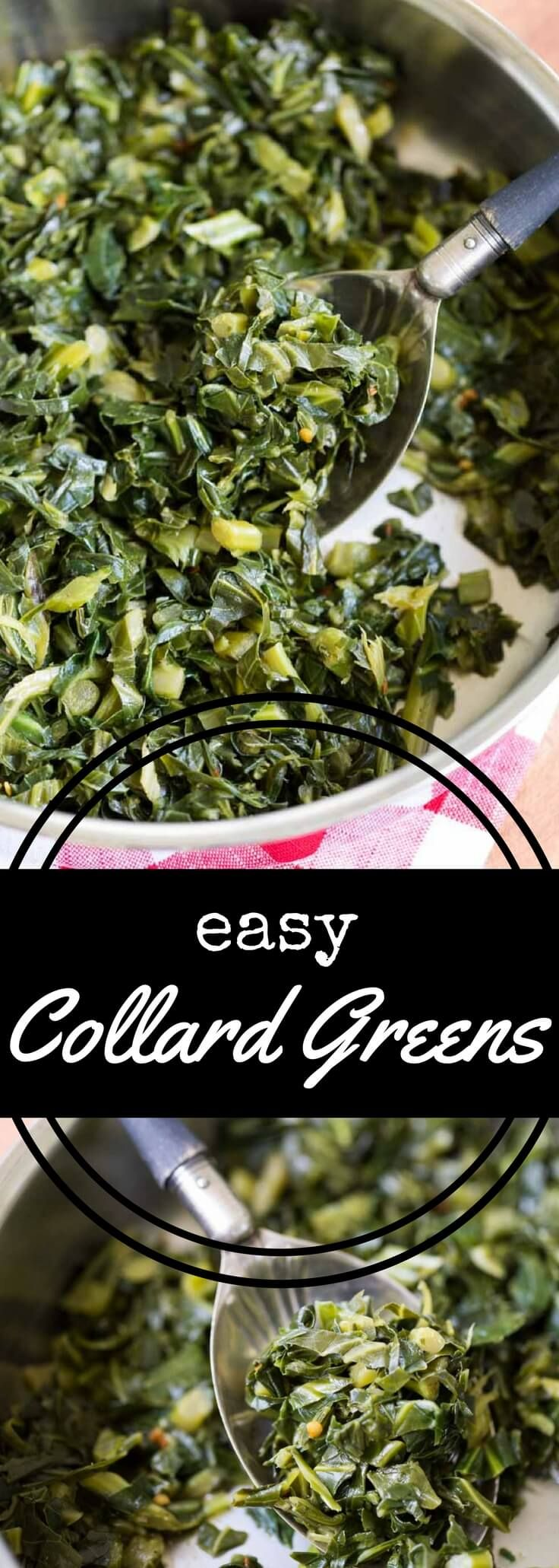 This easy collard greens recipe is simple to make, requiring only a small amount of fat along with chicken broth and a touch of seasoning.  Made with Armour Premium All-Natural Lard from Walmart.  via @recipeforperfec #ArmourPremiumLard #Pmedia #ad