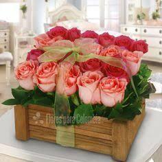 Resultado de imagen para arreglos florales vintage en canastas san valentin