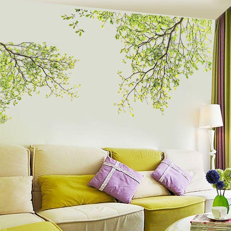 Wandtattoo XL Pflanze Schmetterling Blumen Wandaufkleber Wandsticker Wohnzimmer in Möbel & Wohnen, Dekoration, Wandtattoos & Wandbilder | eBay!