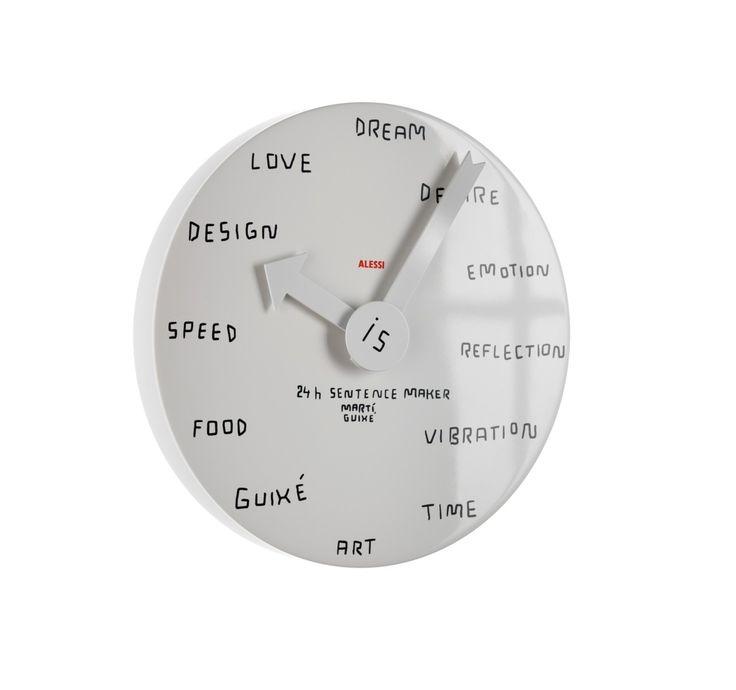 Opisz dowolnie biały cyferblat zegara za pomocą ścieralnego flamastra! #Alessi