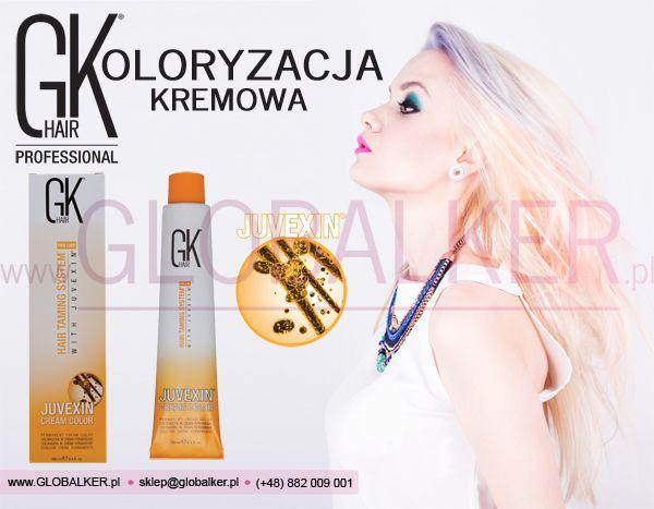 GK Hair Koloryzacja Kremowa Global Keratin Juvexin Warszawa Sklep #no.1 #globalker