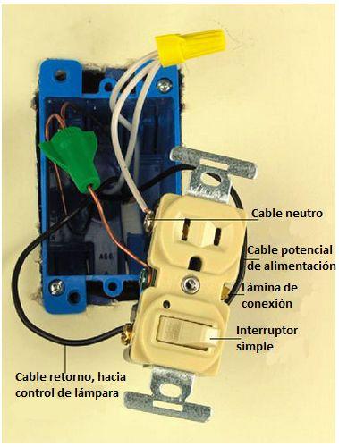 conexión de interruptor tomacorriente electricidad electrical