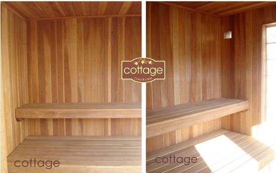 esquema construção sauna seca