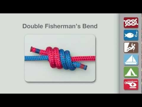 Double Fisherman's Bend | How to tie a Double Fisherman's, or Grapevine, Bend | Climbing Knots