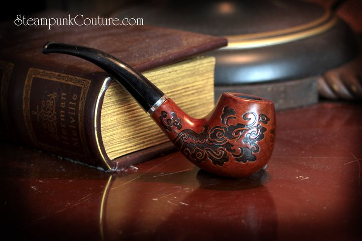 Sherlock Holmes style Wooden Steampunk pipe. $14.99, via Etsy.