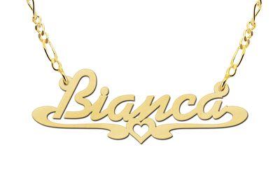Afbeeldingsresultaat voor gouden letter hanger bianca