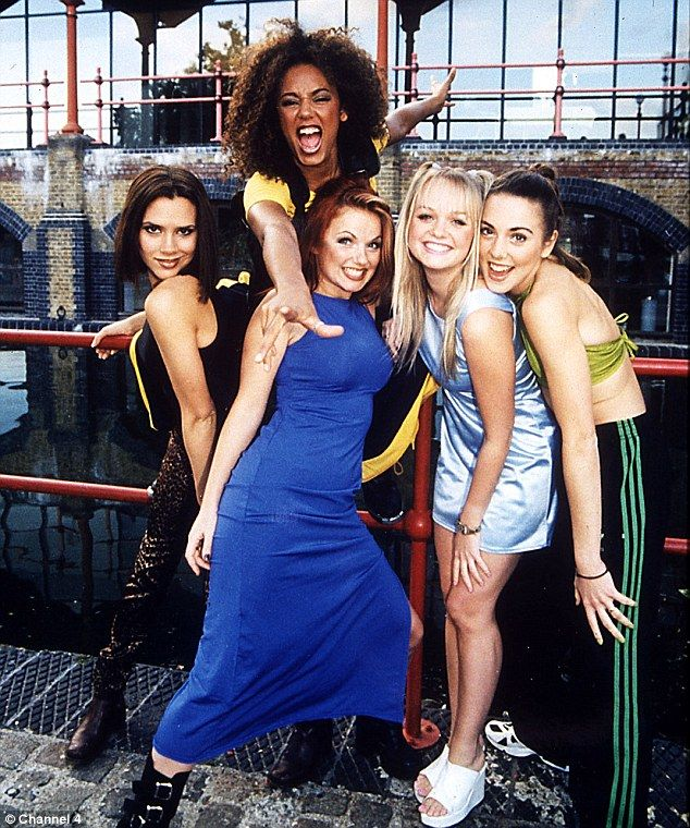 Cheesy: The way the Spice Girls were when they started out in 1996