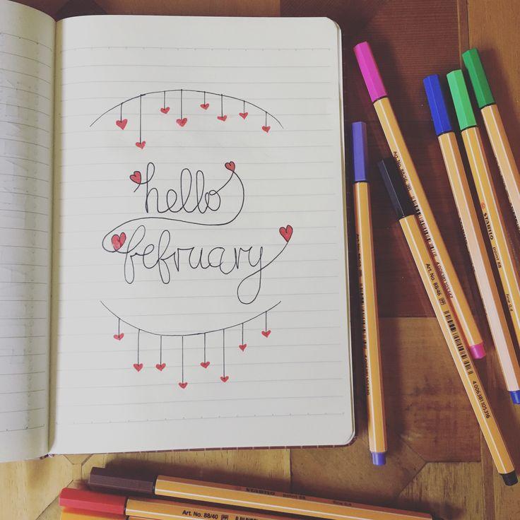 Bullet journal hello february  follow me  https://www.youtube.com/channel/UCaVi1zC_yD5osZIAlMWm2-g