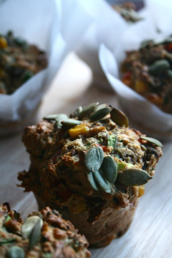 Wholemeal, Corn, Basil and Pumpkin Seed Savoury Muffins