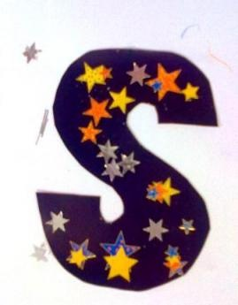 S is for star - letter craft