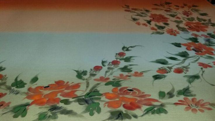 Painting on chiffon