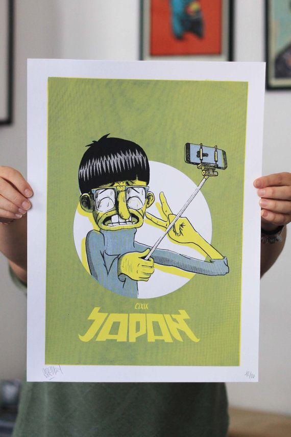 JAPAN x 169  Affiche sérigraphie par CapsuleFactory sur Etsy