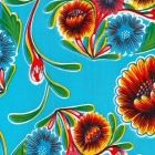 Mexican Oilcloth Sweet Flower Pale Blue