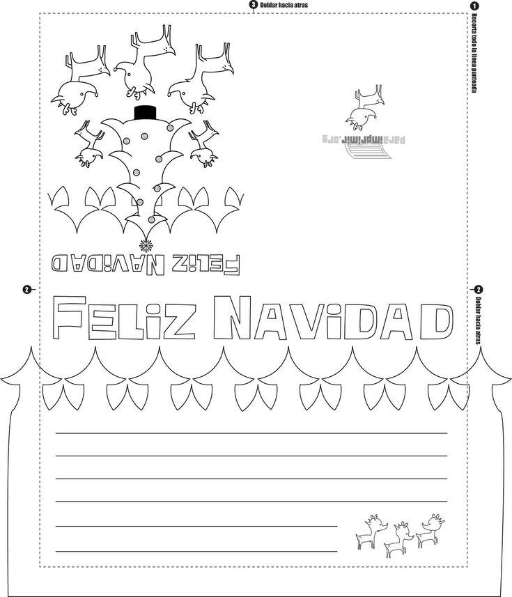 Navidad para imprimir colorear tarjetas kamistad for Tarjetas de navidad para ninos pequenos