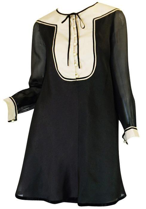 Dress, Guy Laroche, 1960s, 1stdibs.com....... I like this as a dressy shirt with legginz