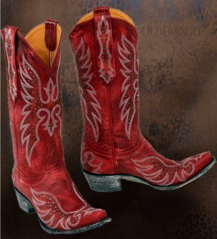 Old Gringo boots are made with wooden soles so that they last longer and boot scoot easier. I love the red, Flashy, but then again, that's kind of the point.