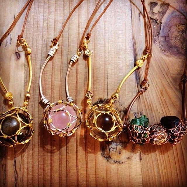 """@Somsri's photo: """"Newest creations #jewellery #handmade #jewelry #necklace #crystals"""""""
