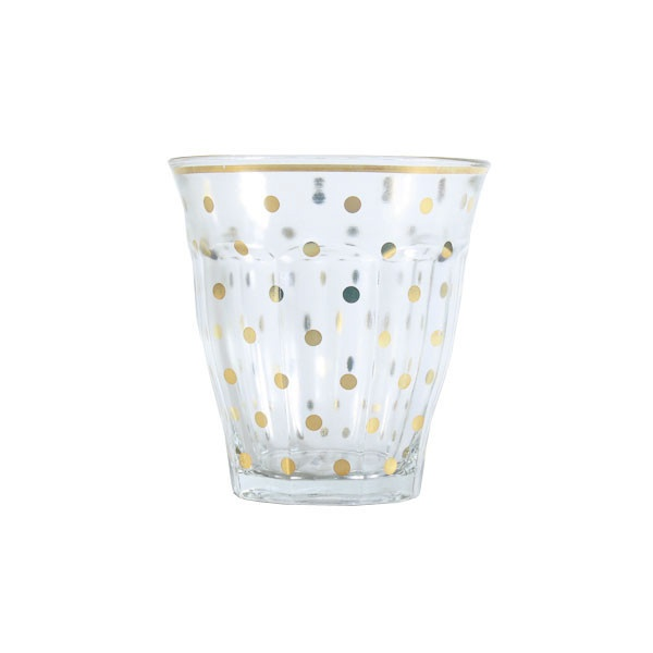 miss etoile | gold dots glass - Christmas present from Brenda xx