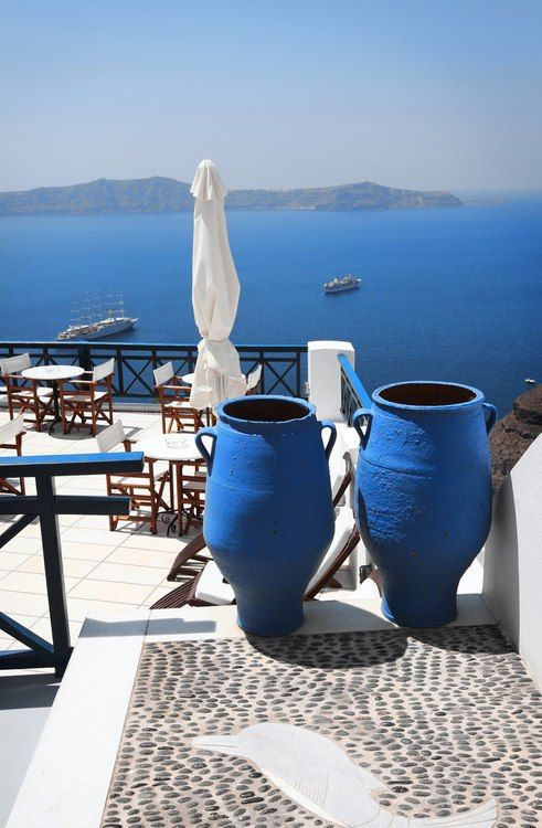 A clear summer day, Santorini, Greece