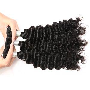 【Indian Diamond Virgin Hair】natural black human hair weave bundles raw indian     deep wave virgin hair     cheap hair bundles wholesale indian deep wave hair     weave     weft hair extensions #wholesalehair #virginhair #hairbundles