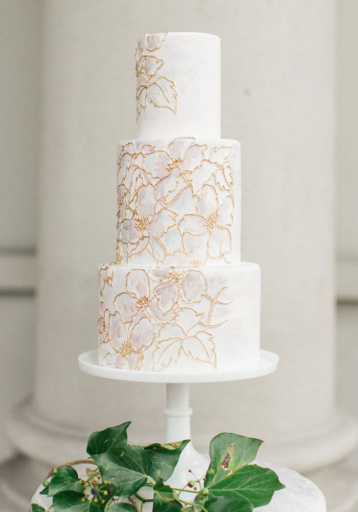 White wedding cake - Canada's Prettiest Wedding Cakes For 2016 | Weddingbells