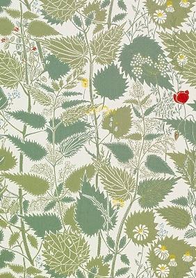 William Morris wallpaper sample.