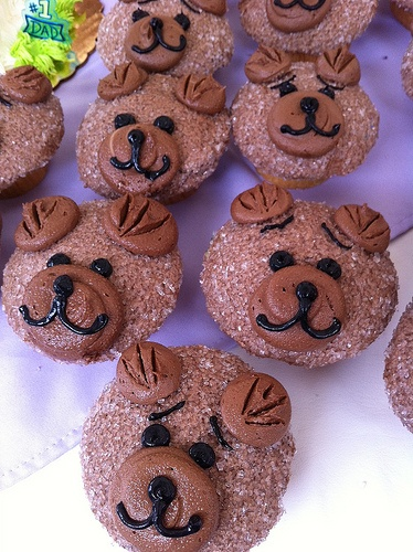 Bear cupcakesCupcakes Yummm, Cupcakes Decor, Bears Cupcakes, Gardiner Cupcakes, Creative Cupcakes, Animal Cupcakes, Cupcakes Rosa-Choqu, Bear Cupcakes, Cupcakes Festivals