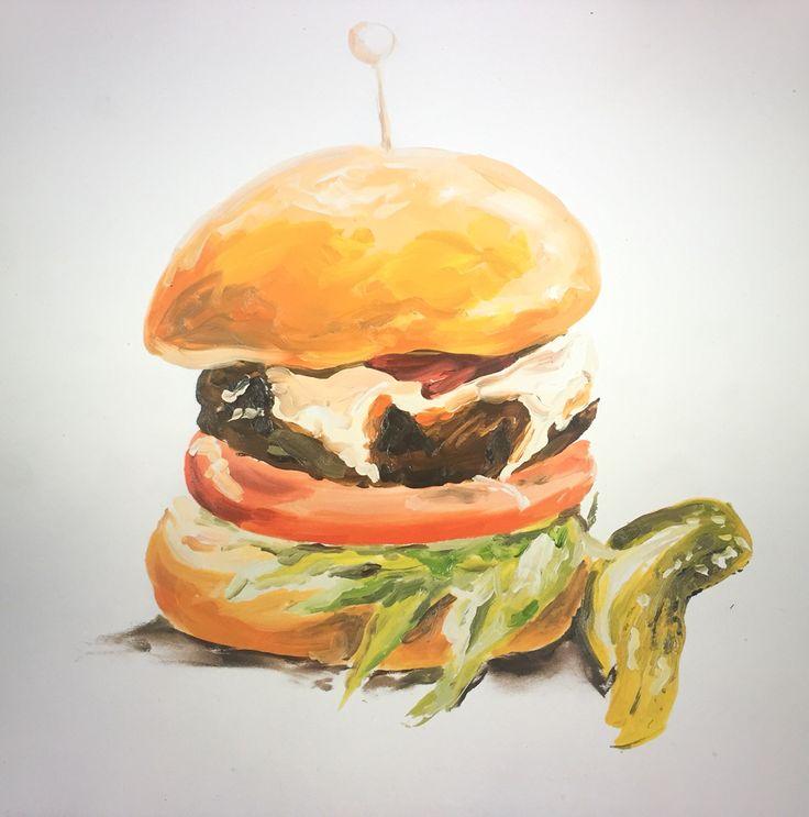 Resultado de imagem para burger paint