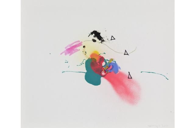 Mathieu Lévesque Possibilités (Taches et traits) IV, Techniques mixtes sur papier, 2010 35 cm x 43 cm