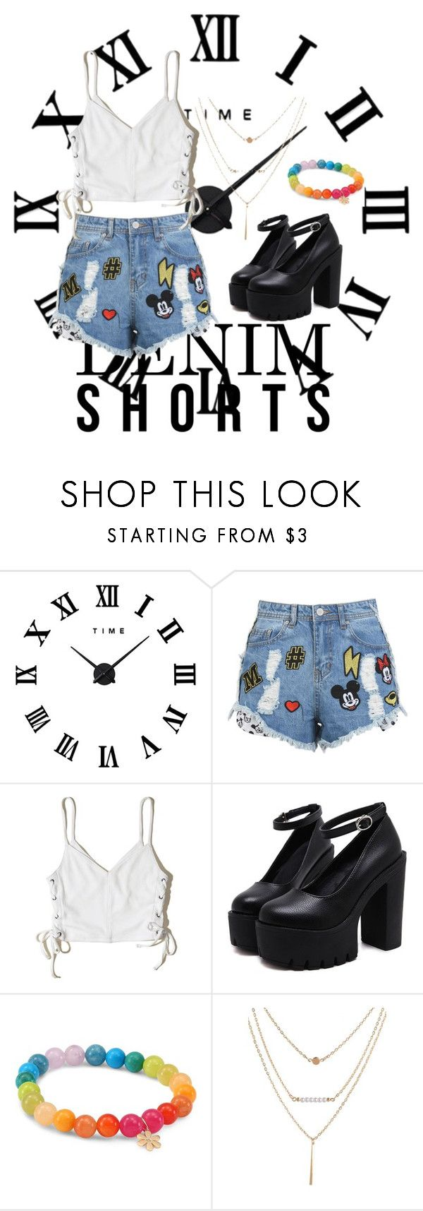 """""""playground wear denim cutoff"""" by pafoua-kue ❤ liked on Polyvore featuring Hollister Co. and Sydney Evan"""