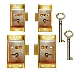 Antique Cabinet Locks - Half Mortise Locks for Doors & Drawers