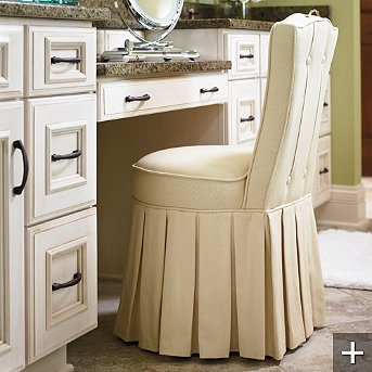 Elena Vanity Stool   Traditional   Bar Stools And Counter Stools   FRONTGATE