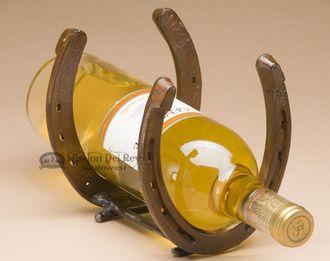 Single Genuine Western Horseshoe Wine Rack (wr12)