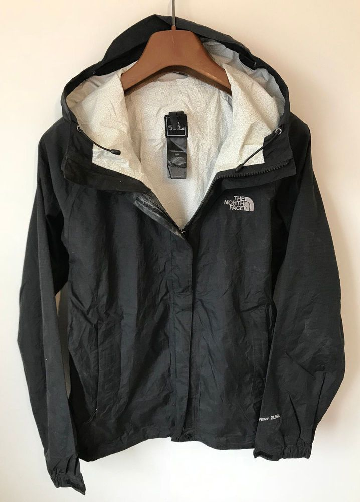 THE NORTH FACE HYVENT DT COAT JACKET! WOMENS UK S M BLACK WATERPROOF  LIGHTWEIGHT  fashion  clothing  shoes  accessories  womensclothing   coatsjacketsvests ... 8a71be60432b
