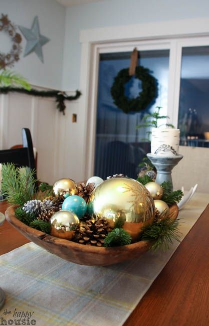 Kerstmis Thuis Tour Dining Room Christmas Decor bij The Happy Housie-9