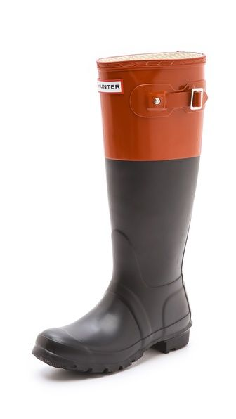 Hunter Boots Original Colorblock Rain Boots - at some point in my life I will own a pair of hunter boots, these are so pretty.