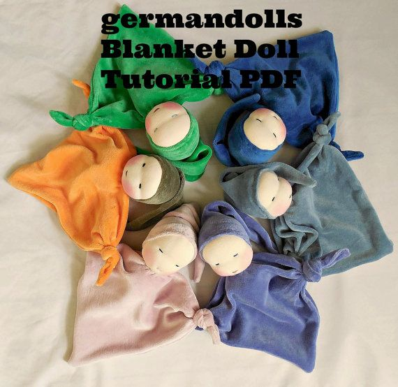 NEW tutorial for making sweet germandolls blanket baby, PDF file, doll making directions, pattern on Etsy, $7.95
