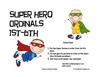 This is a fun activity that can be used in small groups or as a math center.  With a super hero theme it is sure to catch the attention of the boys...
