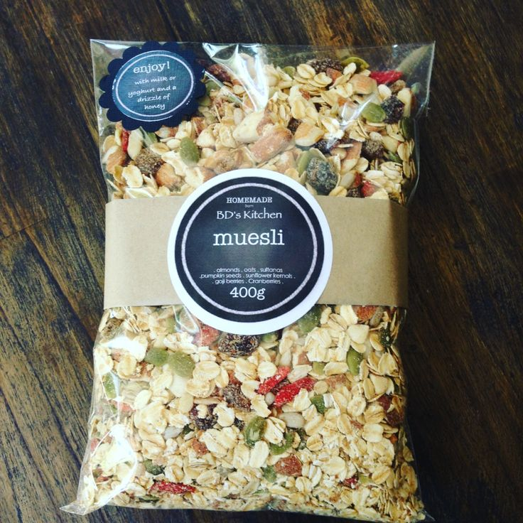 Homemade Muesli full of goodness - serve with your choice of yoghurt and a drizzle of honey