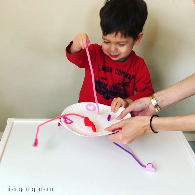 Heartstring Pull Toddler Valentine's Day Activity * ages 1-3 ⋆ Raising Dragons