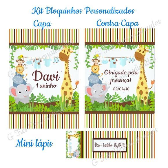 KIT Bloquinho Tamanho 7x10cm Personalizado  TEMA: SAFARI MARROM 01    ** PROMOÇÃO VÁLIDA PARA ESTE MODELO. PARA OUTROS MODELOS, CONSULTE-NOS ANTES DE COMPRAR...    PRODUTO SEGUE EMBALADO UM A UM, PRONTO PARA DISTRIBUIR    Ideal para Lembrancinhas de: Aniversários - Maternidade - Casamento - Chá d...