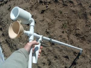 Homemade SeedPlanter - PVC pipe and a few other items.