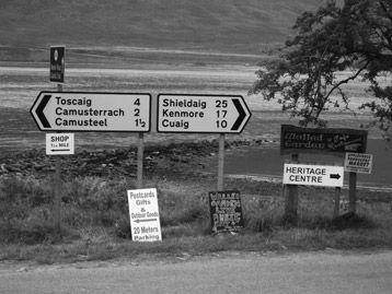 Applecross, Wester Ross. Bottom of the Bealach road.