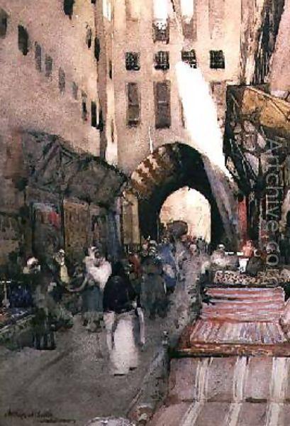 A Turkish Bazaar - Arthur Melville