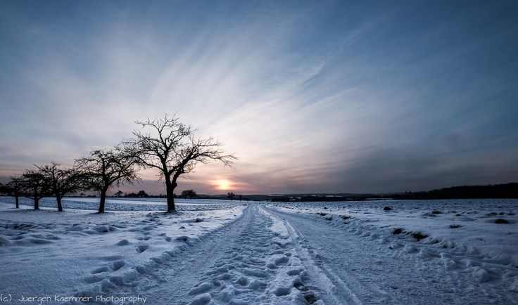 https://flic.kr/p/qLPG3p | Sunset in winter landscape