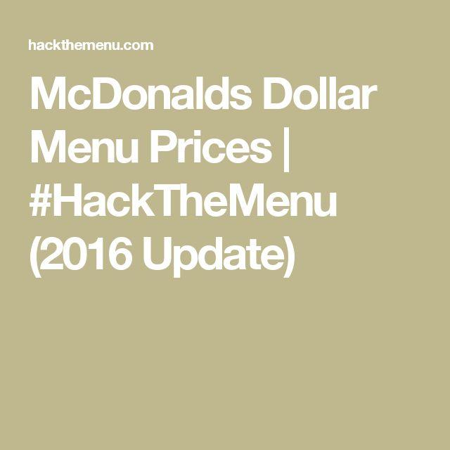 McDonalds Dollar Menu Prices | #HackTheMenu (2016 Update)