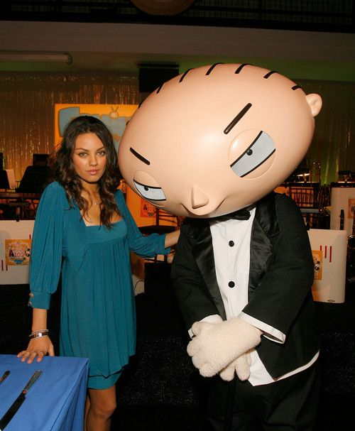 Mila Kunis & Meg Griffin | Mila Kunis with Stewey at the Family Guy 100th Episode Party Dec 2007